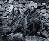 Elder Monks At Day 2 of Paro Festival