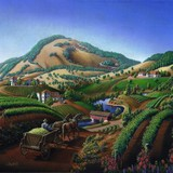Wine Country Landscape - Square Format