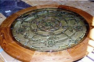 Blazing Hope Skylight Mandala In Frame To Install