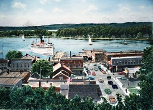 Harbor Springs From The Bluff ca. 1950