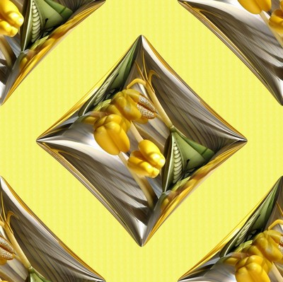 Yellow Flower Design (One)