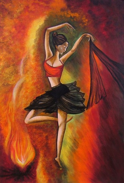 Sizzling Dance- Original Acrylic Painting