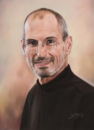 Portrait of Steve Jobs