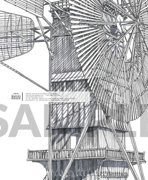 Portfolio Item - hand drawn technical wind turbine wooden Maciej Kozak