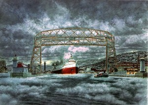 The Edmund Fitzgerald Leaving Duluth