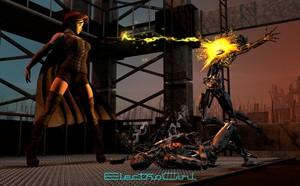 ElectroGirl vs Cyborgs