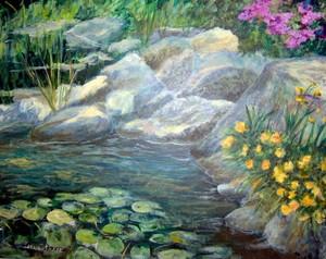 Sunlight on Koi Pond