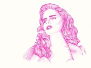 Paloma Faith Biro sketch *hair