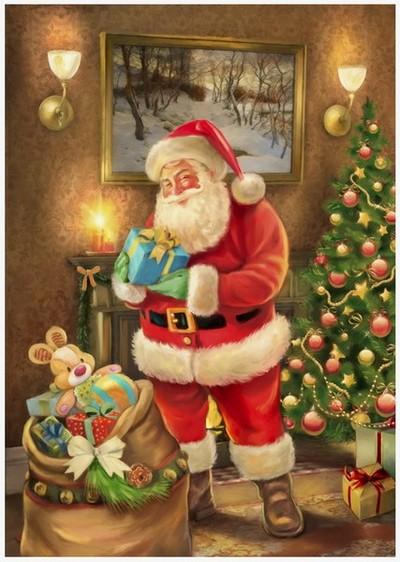 Santa in living room