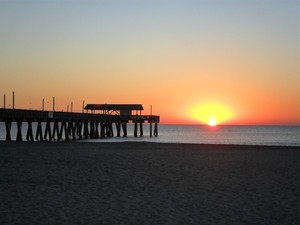 Tybee Island Pavilion at Sunrise