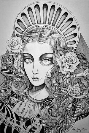 Sarah Gaugler Condemnant+Quod+Non+Intellegunt Artwork Pen and ink on Canvas 2012 (1)