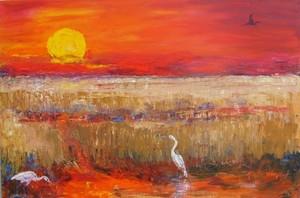 Red Sunset Egrets