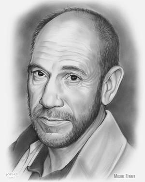 Miguel José Ferrer - Pencil Sketch of the Day