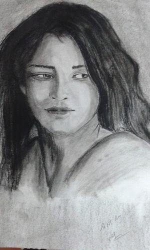 charcoal lady