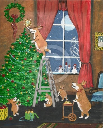Corgi Family Christmas