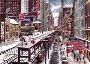 Chicago/ The Loop in Winter ca.1937
