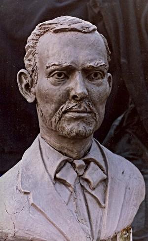 Jesse James Clay study/life size bust