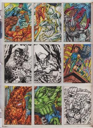 MARVEL CARDS SAMPLE
