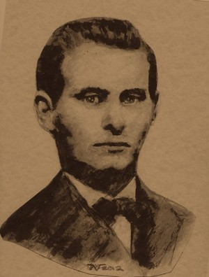A Sketch from a Jesse James photo