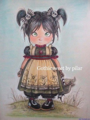 Little girl with gothic bows