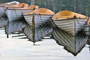 ROWING BOATS REFLECTIONS ...