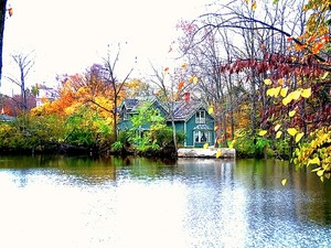 House on Old Mill Pond Northville Mich.