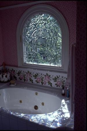 Bevelled Trellis Roses Enjoyed In Jaccuzy Tub