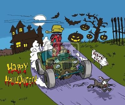 Halloween rat-rod Willys jeep MB