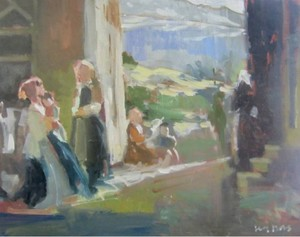 Peasant Women in conversation after Banti