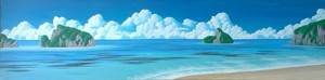 clouds on sea