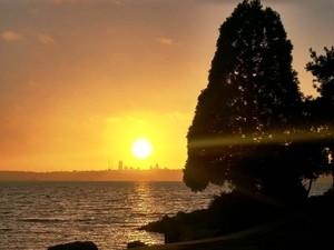 Setting Sun over Seattle