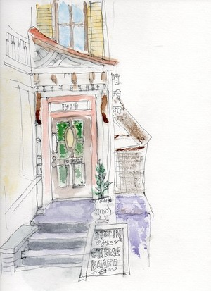 plein air sketch savannah georgia