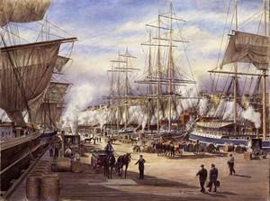 San Francisco: The Green Street Wharf ca. 1889