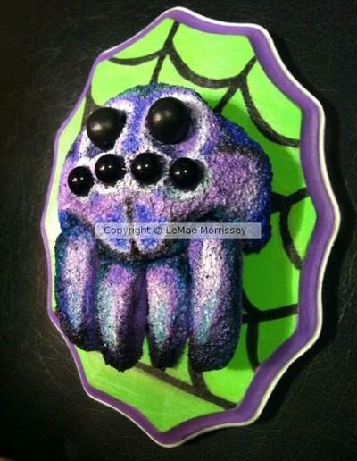 Purple Spider Trophy Head