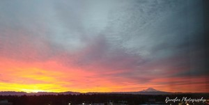 Pre-dawn view of Mr. Rainier