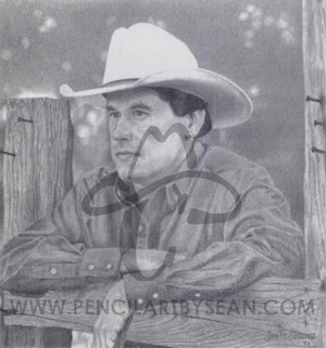 George Strait Pencil Drawing