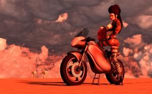 Desert Biker Girl