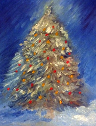 Christmas Tree (oil on canvas) 2015
