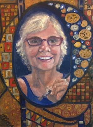 Self-portrait a la Klimt