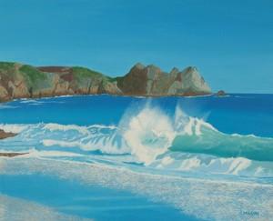 Porthcurno wave.