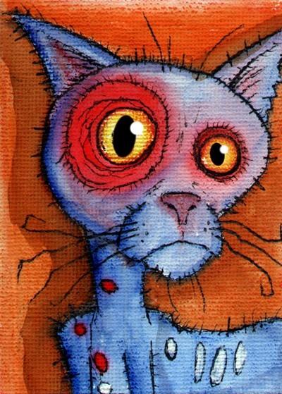 blue zombie cat