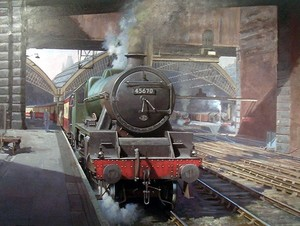 Ex-LMS Jubilee at Lime Street