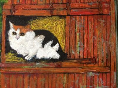 Cat In Haymow