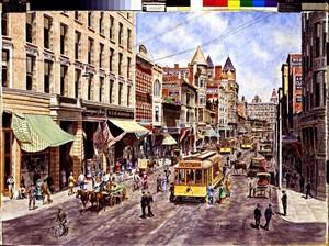 Los Angeles:3rd & Spring St. ca. 1905