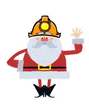 Miner Santa