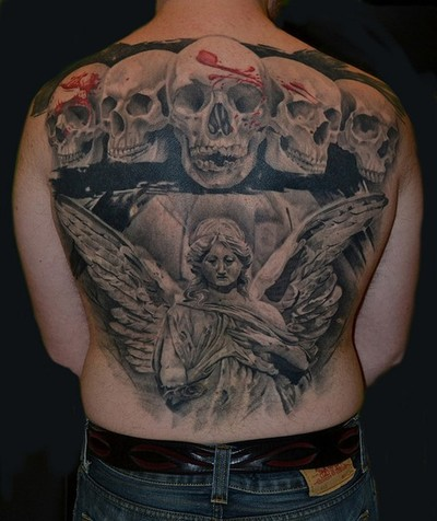 Angel and Skull Tattoo