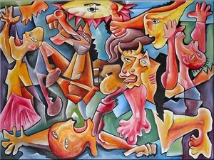 oil-canvas-painting-fight-dobos