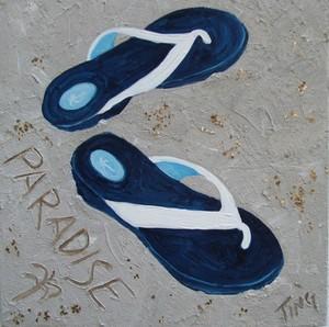 Blue Flip Flops 2