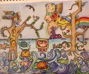 Goddess of The Waters - Mayan Cosmology