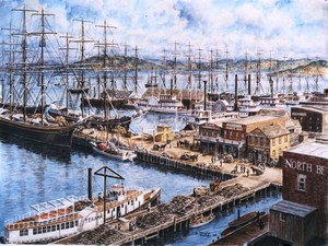 The Vallejo St, Wharf From North Beach ca.1860